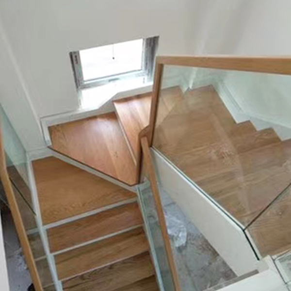 钢木双梁梯